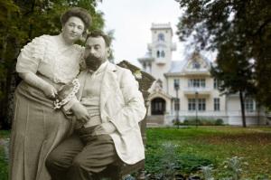 Bashenin with wife